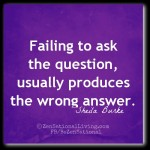 1 failing to ask