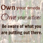 1 words actions