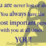 4 you are never lost or alone