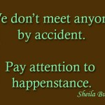 8 pay attention to happenstance